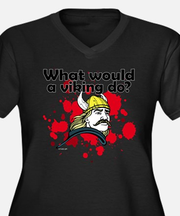 What Would a Viking Do Women's Plus Size V-Neck Da