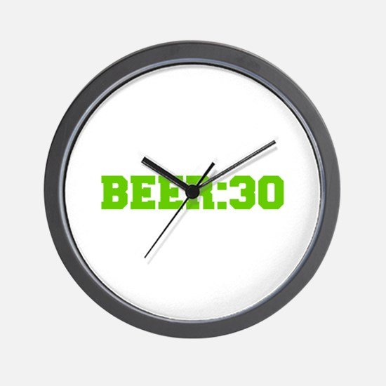 Beer 30-Fre l green Wall Clock