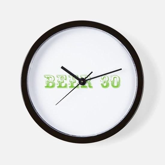 Beer 30-Max l green 500 Wall Clock