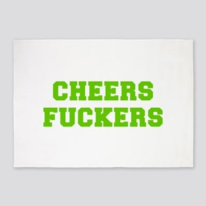 Cheers fuckers-Fre l green 400 5'x7'Area Rug