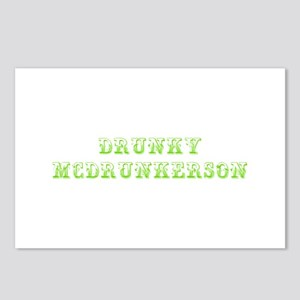 Drunky McDrunkerson-Max l green 500 Postcards (Pac