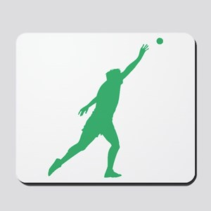 Green Shot Put Silhouette Mousepad