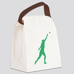 Green Shot Put Silhouette Canvas Lunch Bag