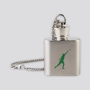 Green Shot Put Silhouette Flask Necklace