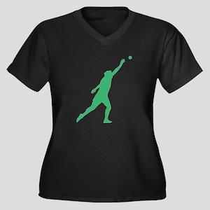 Green Shot Put Silhouette Plus Size T-Shirt