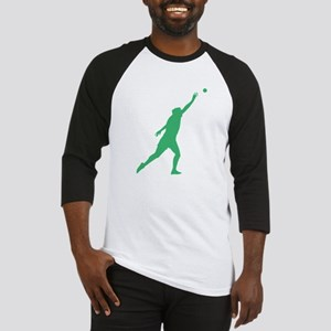 Green Shot Put Silhouette Baseball Jersey