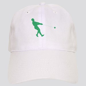 Green Hammer Throw Silhouette Baseball Cap