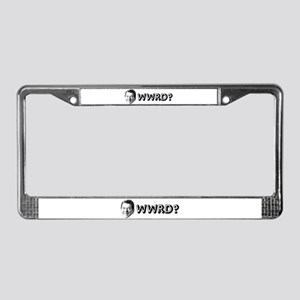 """WWRD?"" License Plate Frame"