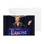 Clinton = Fascist Greeting Cards (Pk of 10)