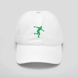 Green Discus Throw Silhouette Baseball Cap