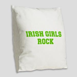 Irish Girls Rock-Fre l green 400 Burlap Throw Pill