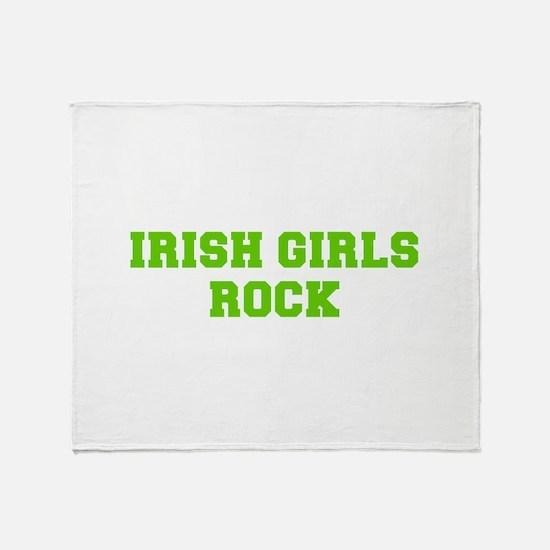Irish Girls Rock-Fre l green 400 Throw Blanket