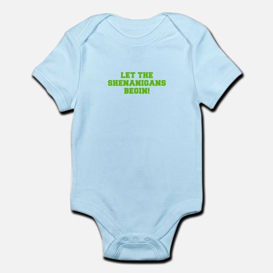 Let the Shenanigans begin-Fre l green Body Suit