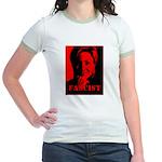 Clinton = Fascist Jr. Ringer T-Shirt