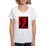 Clinton = Fascist Women's V-Neck T-Shirt