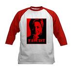 Clinton = Fascist Kids Baseball Jersey