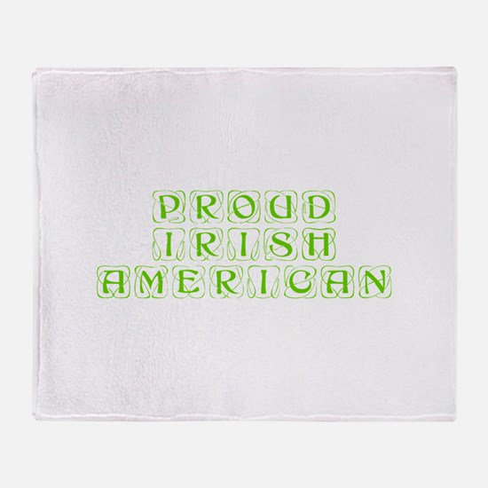 Proud Irish American-Kon l green 450 Throw Blanket