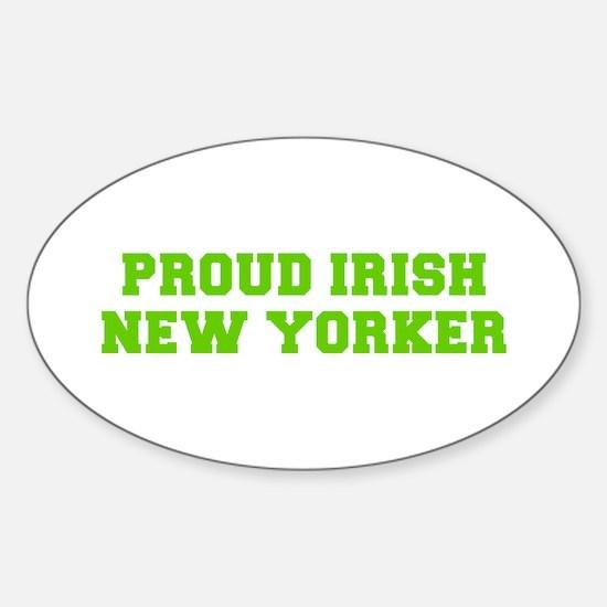 Proud Irish New Yorker-Fre l green 400 Decal