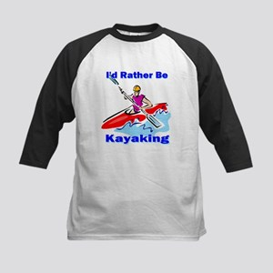 I'd Rather Be Kayaking Kids Baseball Jersey