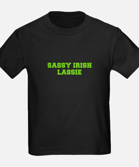 Sassy Irish Lassie-Fre l green T-Shirt