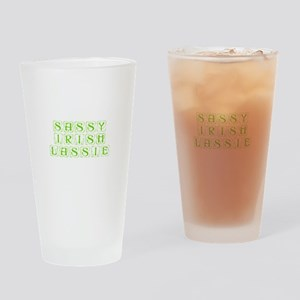 Sassy Irish Lassie-Kon l green Drinking Glass