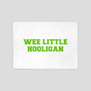 Wee little hooligan-Fre l green 5'x7'Area Rug