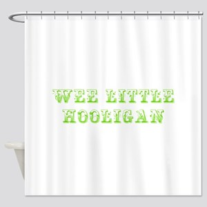 Wee little hooligan-Max l green 500 Shower Curtain