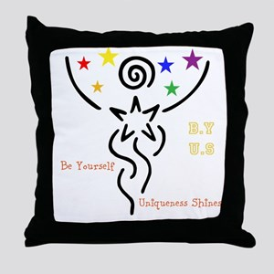 B.Y.-U.S. Throw Pillow