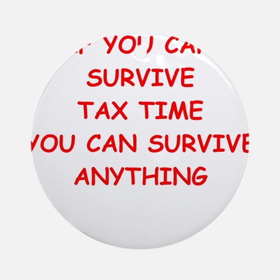 tax Ornament (Round)