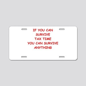 tax Aluminum License Plate
