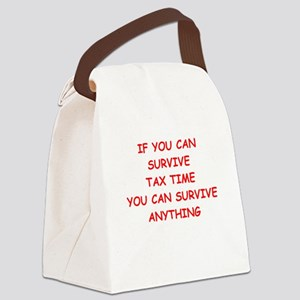 tax Canvas Lunch Bag