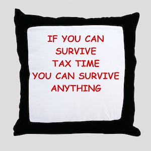 tax Throw Pillow