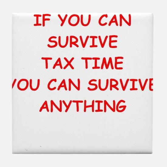 tax Tile Coaster