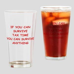 tax Drinking Glass