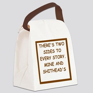 divorced Canvas Lunch Bag