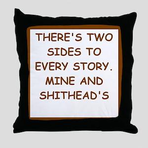 divorced Throw Pillow