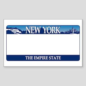 New York - The Empire State 2001 License p Sticker