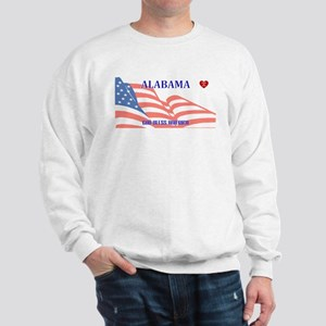 AL - God Bless America blank license pl Sweatshirt