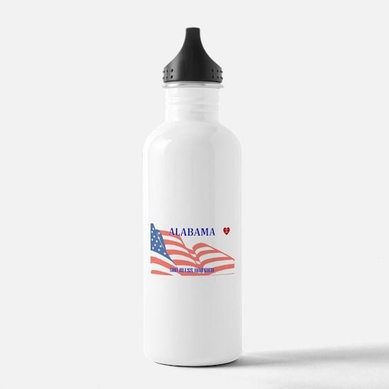 AL - God Bless America Water Bottle