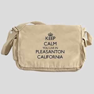 Keep calm you live in Pleasanton Cal Messenger Bag