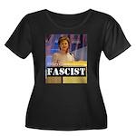 Clinton = Fascist Women's Plus Size Scoop Neck Dar