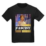 Clinton = Fascist Kids Dark T-Shirt