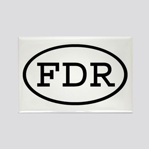 FDR Oval Rectangle Magnet