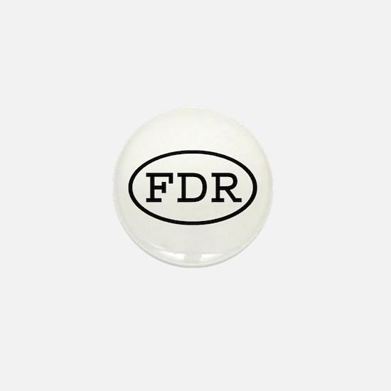 FDR Oval Mini Button