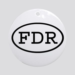 FDR Oval Ornament (Round)