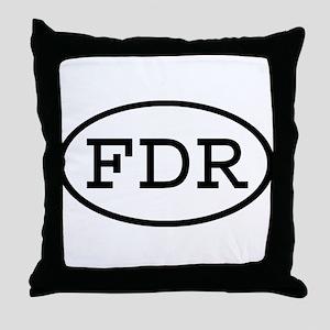 FDR Oval Throw Pillow