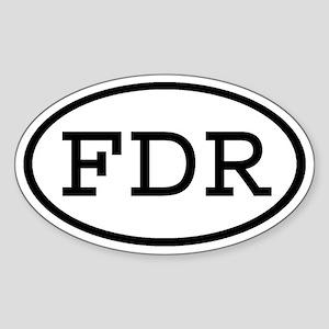 FDR Oval Oval Sticker