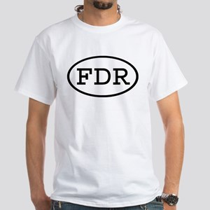 FDR Oval Premium White T-Shirt