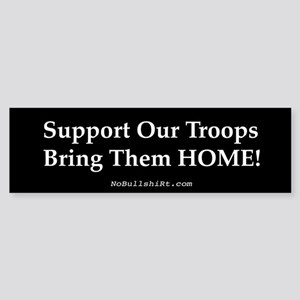 Support our Troops Bring them Home Bumper Sticker