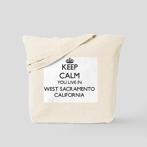 Keep calm you live in West Sacramento Cal Tote Bag